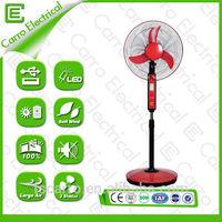 New model LED light rechargeable battery usb fan