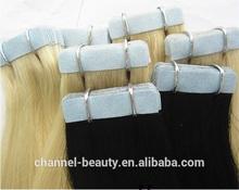 Wholesale full cuticle top 6A human virgin remy glue /keratin hair extension