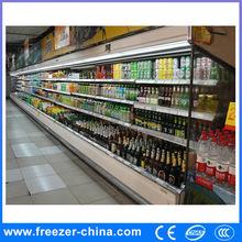 Upright multideck commercial supermarket refrigerators open front display OEM manufacture