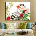 antigua de flores pintura al óleo de estilo chino