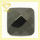 Square Shape Black Flat Back Checker Cubic Zirconia Stone