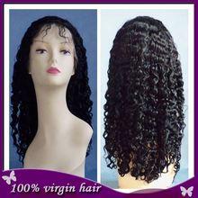 stock jewish wigs Wholesale Cheap Wig Kinky Curl 100% Brazilian Human Hair Full Lace Wig