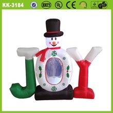 2014 hot sale promotional christmas inflatable cartoon