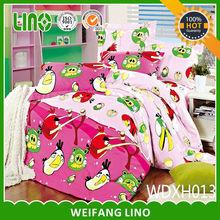 100% cotton popular design kids bed set
