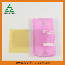 TPU Gel Case+Screen protector+Zipper bag package for mobile phone