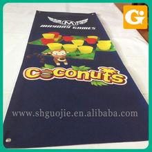 Indoor/outdoor silk fabric banner promotion