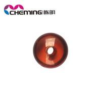 wholesale colorful crystal large hole oval acrylic round beads