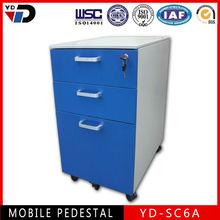 High quality 3 drawer file desk pedestal/drawers mobile cabinet pedestal office furniture