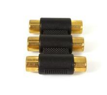 Female to Female 3 RCA AV Coupler Cable Joiner Adapter