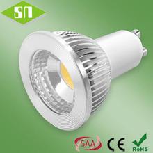220V DIM 450lm COB 5 watt led gu10 cold white