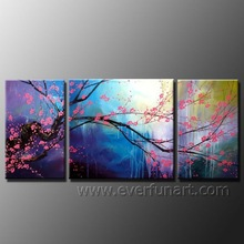 Purple Flower Oil Painting Abstract Canvas Art