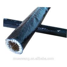 Noir Silicone fibre échappement manches