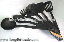 Black Color 6Pcs Nylon Kitchen Tools Set