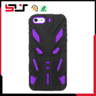 Hard PC plus silicone hybrid rugged compact kickstand robot case for iphone5