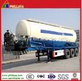 A granel en polvo de material de transporte camiones cisterna semi remolque serie( volumen opcional) diesel de la bomba, del motor, compresor de aire instalado