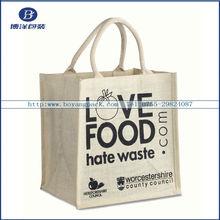 Custom made individual shopping bag , jute bags wholesale
