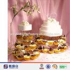 Hot Sale!!!Manufacturer Custom Clear Acrylic Cupcake Tower Stan