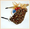 fashion new product feather fascinate hair ornament for lady decoration 2014 hotsale