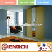 Partical Board solid wood bedroom with big mirror dresser