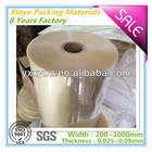 PVC plastic bottle label film for printing