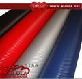 Garantía 100% el 1.52 x 30 m etiqueta engomada del coche película del vinilo de la fibra del carbón 3D de papel