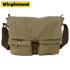 "Khaki Durable Waterproof Waxed Canvas Tablet Shoulder Bag fit 7""/ 8""/ 9""/ 10""/ 10.2"" Laptop PC"