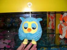 18cm lovely customized blue plush night owl keychain toy with plastic sucker