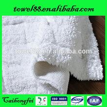 China jacquard hotel anti-slip cotton baby bath mat