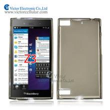 transparent Grey TPU gel Case for BlackBerry Z3