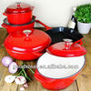 9pcs high quality enamel cast iron cookware