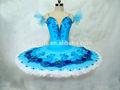 Nueva llegada mbl1095a!!! De la muchacha 2014 azul clásico tutú de ballet/el desempeño profesional tutu vestido/clásico tutú de ballet