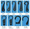 customs design 41MM TO 60MM plastic J hooks for packaging