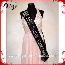 flashing black pageant sash