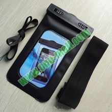 Hot selling waterproof Bag for iPhone 5 with earphone hole and armband and landyard