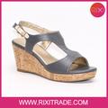 señora 2015 cuñas sandalias zapatos de alta calidad bajo precio