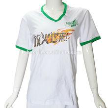 hot sale v-neck white printing t shirt