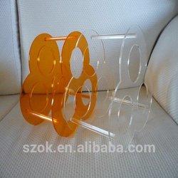 creative design colorful acrylic wine bottle holder display rack hot selling