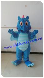 light blue mascot costume dragon adult dragon mascot costume