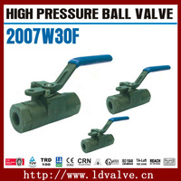 """2007W30F Type DN40 (1-1/2"""") 3-pc A105 Forged Steel 3000psi High Pressure Ball Valve In Manual Valves"""