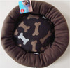 High quality super soft fleece cushion / cozy pet bed with bone printing