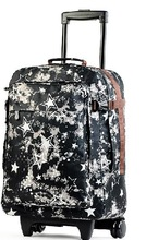 2014 Fancy new design printing large travel trolley bags