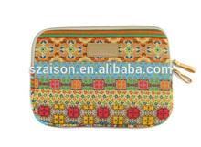 "Kinmac bohemia style neoprene laptop sleeve bag for 10"" 12"" 13.3"" 14"" 15 inch notebook Canvas&neoprene material"