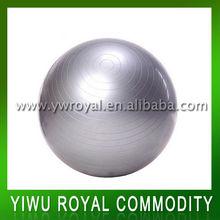 Promotional 65cm Inflatable Sliver Anti Burst Gym Ball