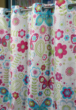 Fresh flower hookless shower curtain
