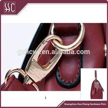 2014 newest style Rose gold zinc alloy handbag snap hook