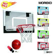 "Mini Basketball Goal MK011 with 18"" PC/Fiberglass/Acrylic Backboard,spring ring/rim"