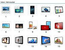 Nuevos productos 2014 transparente de refrigerador del lcd