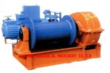 JKD series electric fast speed winch with one drum