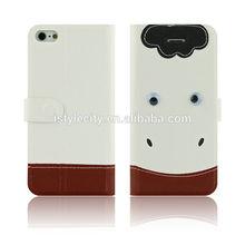 Animal Design Flip Wallet Leather Case for iPhone 5