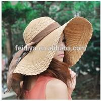 Ladies Superb Summer Sun Beach Floppy Derby Hat Wide Large Brim straw hat